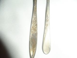 Wm Rogers And Son Silverplate Silverware Fork And Spoon photo