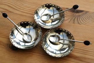 3 Danish Silver Dishes (marked 800) With Assayers Mark For