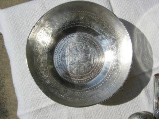 African Islamic Solid Silver Bowl Sudan? 115.  4 Gram Not Scrap photo