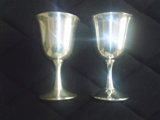 Sheridan Silver Plated Goblets.  (2) photo