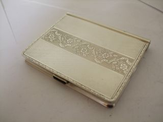 Vintage Sterling Silver Cigarette Case By Birks Quality C 1950 ' S - 88 Gram photo