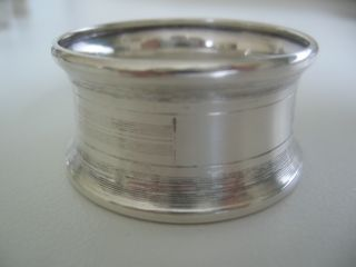 Banded Sterling Silver Napkin Ring No Monogram,  Made By Birks Of Canada photo