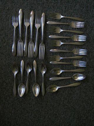 22 Pc.  Partial Set Of Community Plate Flatware photo