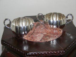 Sterling Silver.  925 Elegant Cream & Sugar Dish - 7.  8 Oz - 220 Grams - $245 Scrap photo