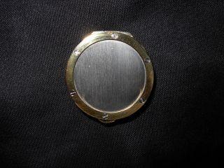 Eloi Gold And Silver Coin Like Round Pill Box,  Snuff Box Unique Vintage Rare photo