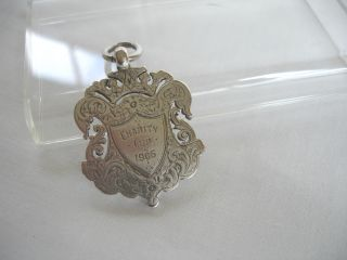 Antique Solid Silver Fob Charity Cup 1905 Nryfa 23gms photo