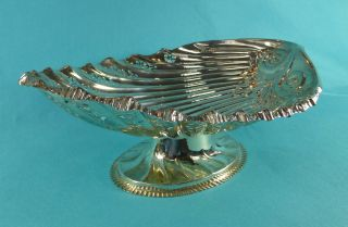Lovely Sterling Silver Oval Shell Footed Bowl Dish By Hilliard & Thomason 1907 photo