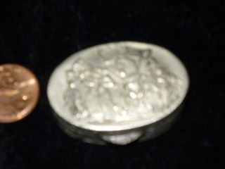 Vintage Sterling Silver Pill / Trinket Box,  12.  4 Gram Hallmarked photo
