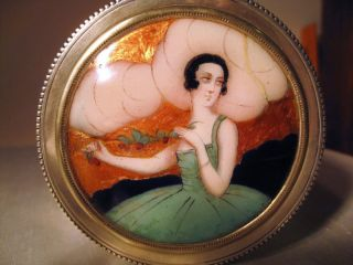 1890 ' S Enamel Painting On 935 Sterling Box Depicting The Famous Marie Laurencin photo