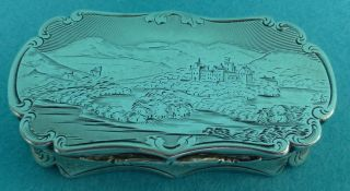 Rare Victorian Sterling Silver Castletop Vinaigrette Balmoral Nathaniel Mills photo