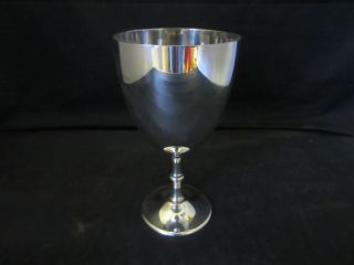 Vintage Silver Plated Nickel Chalice photo