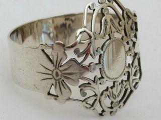 Antique Stunning Silver Pierced Napking Ring Hm 1903 Rare Design Art Nouveau photo