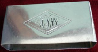 Antique Sterling Silver Towle 8822 Art Deco Napkin Ring Monogram 44 Grams Lovely photo