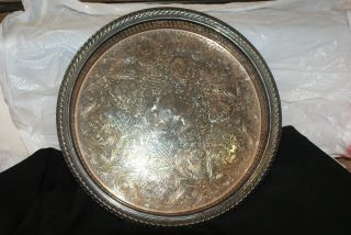 Wm Rogers Silver Tray L44 photo