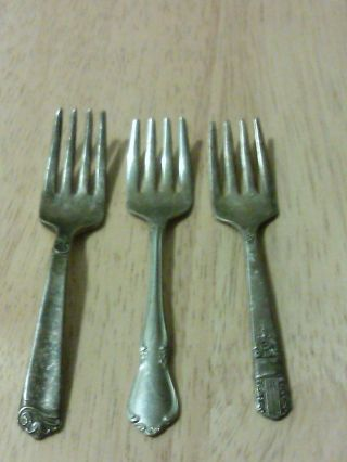 Small Silver Forks - Assorted Set Of 3 photo