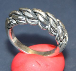 Old Silver Ornament Ring photo