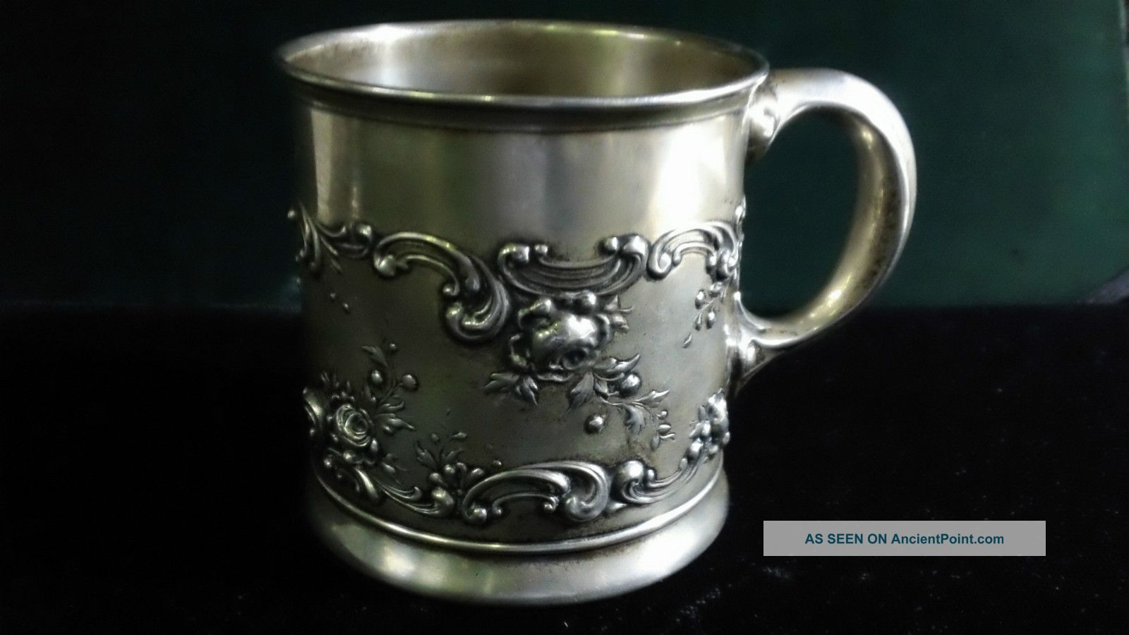 Antique Gorham Sterling Silver Repousse Baby Cup - Buttercup Pattern C 1880 Cups & Goblets photo