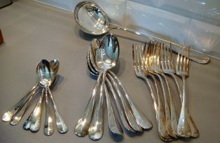 French Complete Flatware Set For 6 + Ladle photo