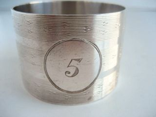 Sterling Silver Napkin Ring Hallmarked Birmingham 1939 No.  5 photo