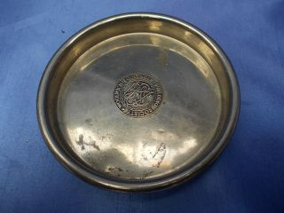 Antique Silver Plated Coaster/bottle Stand - Woolwich Building Society Stamp photo