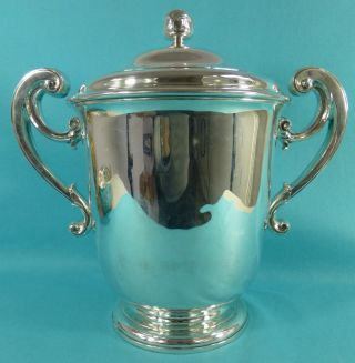Magnificent Art Deco Sterling Silver Trophy Cup Huge 2294gms Richard Comyns 1936 photo