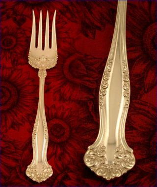 Antique 1847 Rogers Avon Chipped Beef Serving Fork 1901 Vintage Silver Plate photo