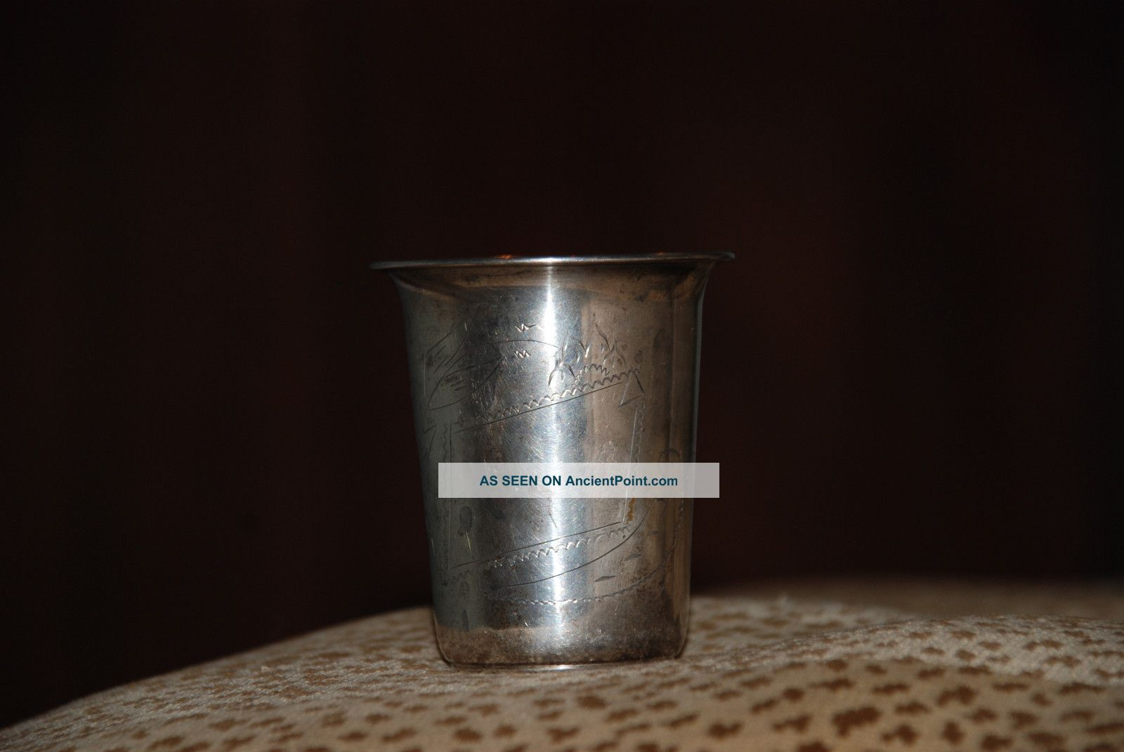 Dutch 833 Coin Silver Kiddush Cup Silver Alloys (.800-.899) photo