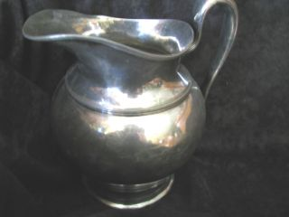 Vintage Hartford Sterling Co.  Quadruple Plated Silver Pitcher 12453 - 1/2 photo