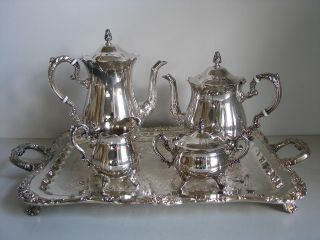 Vintage Chaumet Silver Plated 5 Piece Tea & Coffee Serving Set photo