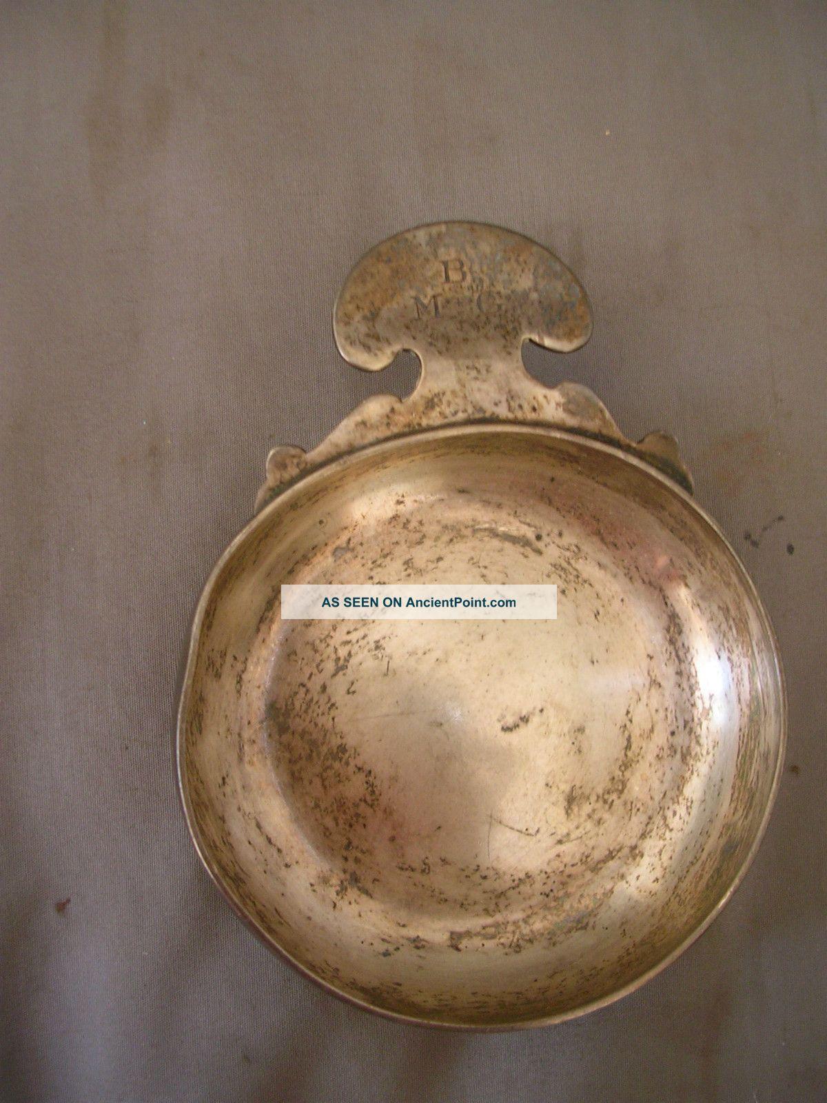 Vintage Ensko New York Sterling Silver Wine Taster Cup - 4.  4 Oz.  Monogram Bm&g Cups & Goblets photo