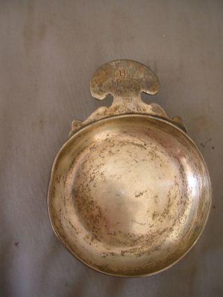 Vintage Ensko New York Sterling Silver Wine Taster Cup - 4.  4 Oz.  Monogram Bm&g photo