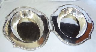 2x Sterling Silver 4oz.  Oval Dishes 909b By Shreve & Co.  San Francisco (batc) photo