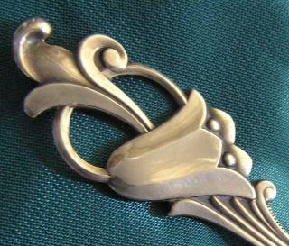 Aesthetic Bluebell Caddy Spoon Tea 830 Silver Shell Heavy Goblet Mark Artist photo