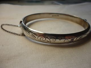 Silver Bracelet With Safety Chain photo