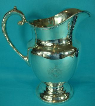 American Sterling Silver Water Jug Military 14th Cavalry Regiment Of U.  S.  A.  1920 photo