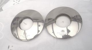 2 Silver Plate Tea Lights Holders The Royal Opera House Covent Garden London photo