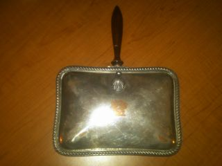Antique Silent Butler Ash Tray Or Crumb Catcher photo