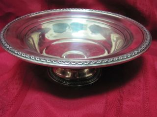 Vintage Rogers Co.  Sterling Silver Bowl/candy Compote - Very Large 11.  1 Oz/ounces photo