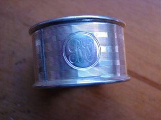 Lovely Heavy Antique Solid Sterling Silver Napkin Ring 1923 photo