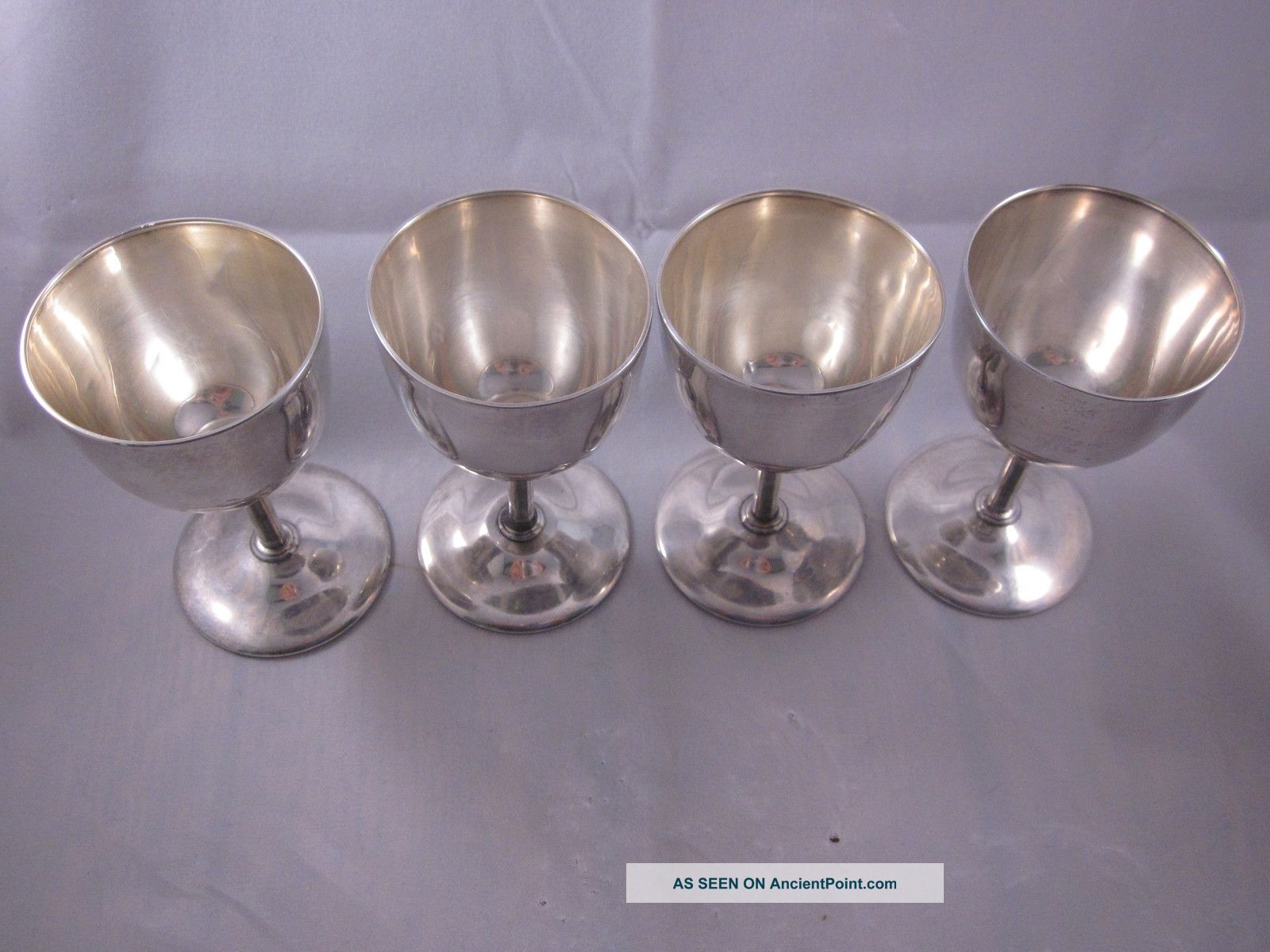 Vintage Goblets Cups Sterling Silver Set Of 4 Cordials Sherry Wh&co 1903? Cups & Goblets photo
