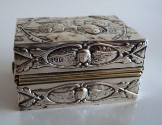 Antique Victorian Sterling Silver Travelling Spirit Burner Box London 1901 Marks photo