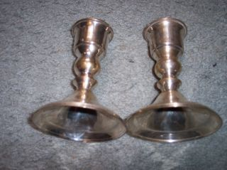 Silverplate Candelstick Holders Made In India Leonard photo