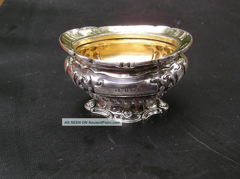 English,  B.  B,  Birmingham Sterling Salt Dish,  1901 - 1902 Real Salt Cellars photo
