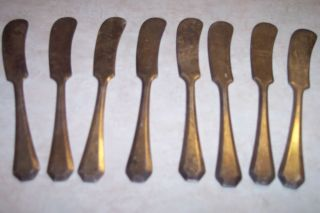 Antique 8 Butter Knives Rogers Silverplate (estate) photo