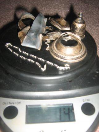 14 Grams Scrap Sterling Silver Including Made In Italy.  925 Bracelet photo