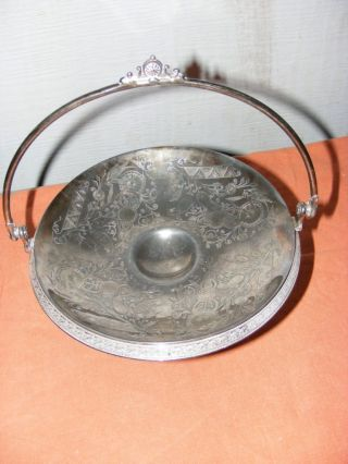 Antique Reed & Barton Victorian Silver Plate Silverplate Brides Basket Server photo