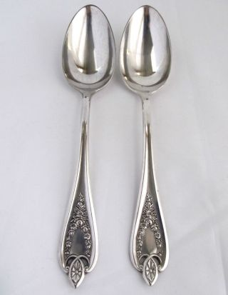 2 Vintage Antique Silver Plated Serving Spoons 1847 Rogers Bros.  - 8 1/4