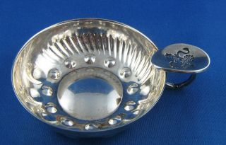 Excellent Vintage Silver Plated Wine Tasting Cup photo