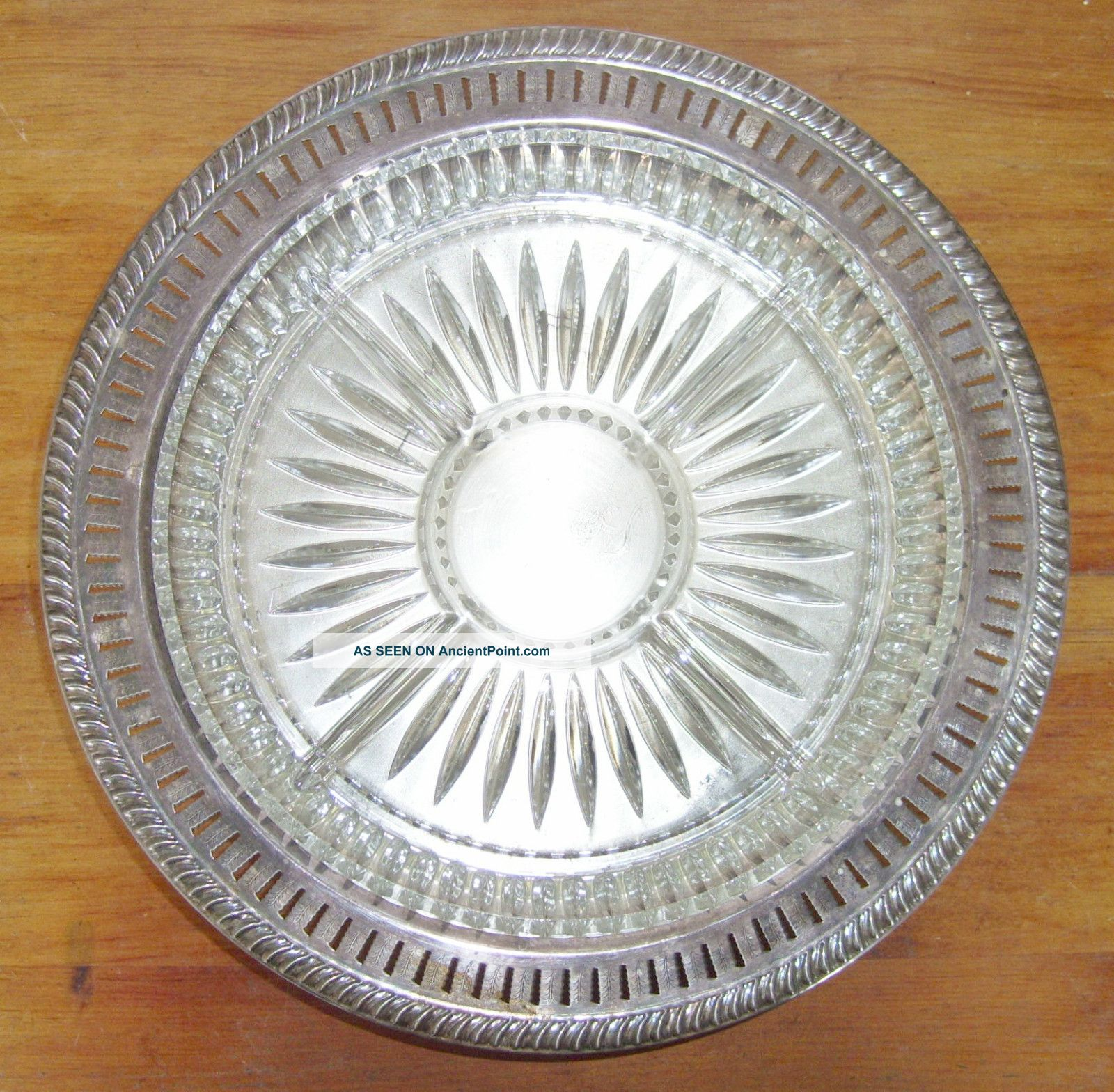 F.  B.  Rogers Silver Co.  1883 Lazy Susan Serving Dish Platter For Condiments Etc. Platters & Trays photo