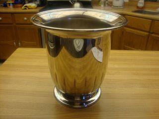Silverplated Primrose Plate Champagne Or Wine Cooler Ice Bucket Made In Canada photo